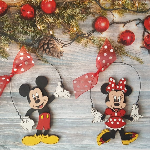Mickey Mouse or Minnie Mouse Christmas Ornament, Disney Personalized  Christmas Ornament - Mickey Mouse Or Minnie Mouse Christmas Ornament Disney Etsy