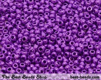 25g (1600pcs) Metallic Purple Rocaille 9/0 (2.6mm) Preciosa Czech Glass Seed Beads