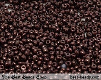25g (1600pcs) Dark Brown Rocaille 9/0 (2.6mm) Preciosa Czech Glass Seed Beads