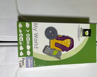 Cricut Expression Cartridge & Keyboard Cover with instruction book, My World