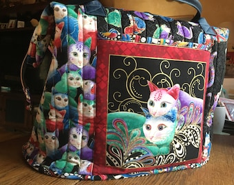 Tote Overnight Bag Travel Carry on Totebag Cats