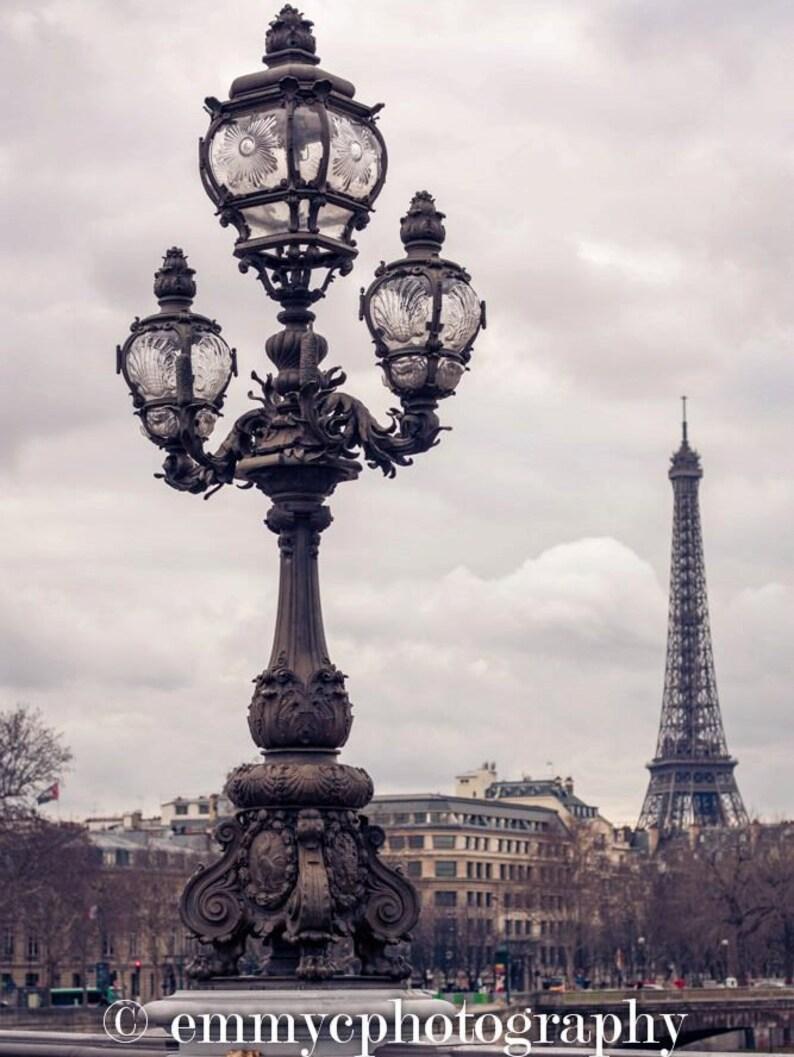 Eiffel Tower Photo Print  Romantic Architecture  8 x image 0
