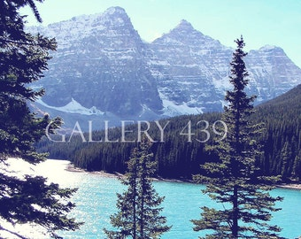 "Banff Lake Louise ""The Turquoise Lake"" Photography Home Decor Canadian Rockies Mountain Turquoise Lake Nature Canada Fine Art Portrait Photo"