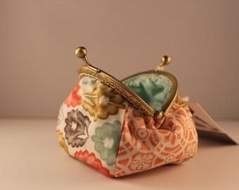 Pastel color change purse 100% cotton with metal claps