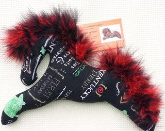 Kentucky Derby, horse, black horse, mint julep, mobile, ornaments, toy horse, Kentucky Derby memorabilia