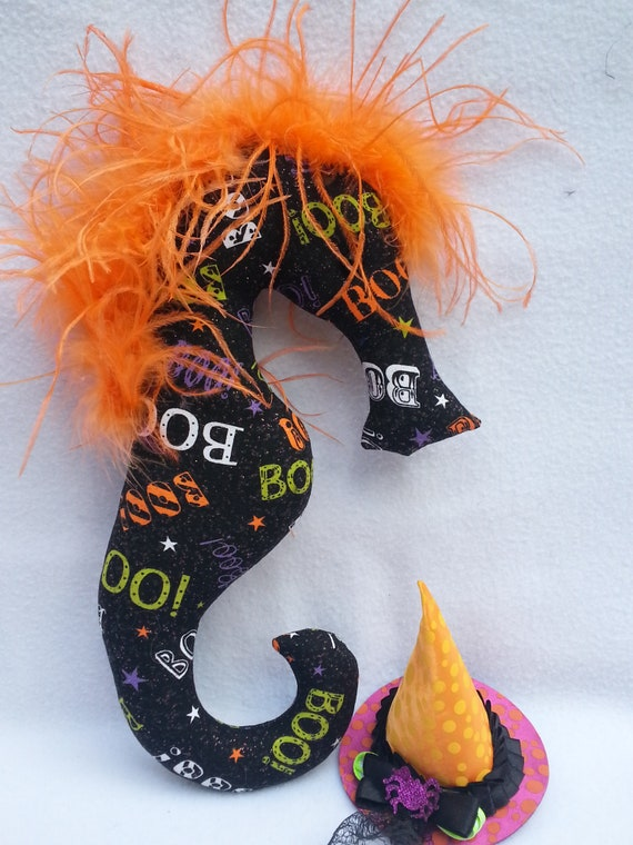 mobile plushie Halloween decor candy corn,orange Halloween Halloween party favor seahorse Halloween party gift