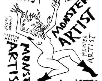 Art Print - Monster Artist