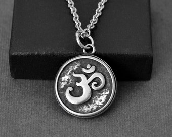 e8260c0275c229 Om Necklace, Mens Necklace, Meditation Necklace, Necklaces for Men, Mens  Jewelry, Gifts for Men, Boyfriend Gift, Stainless Steel Chain