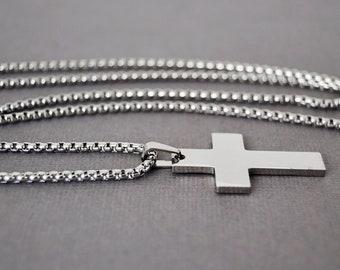 2b80e7491b475 Mens cross necklace | Etsy
