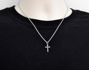 Mens cross necklace  947c5be09