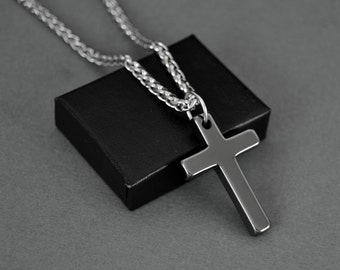 1bb0574847d Black Hematite Cross Necklace