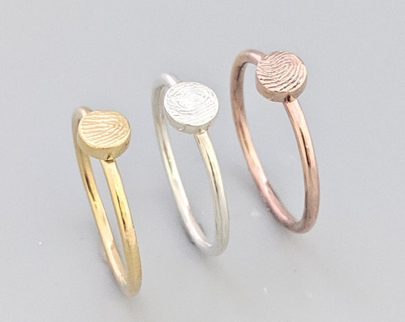 fingerprint stacking rings
