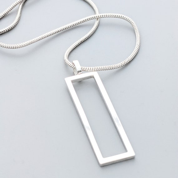 vertical frame necklace