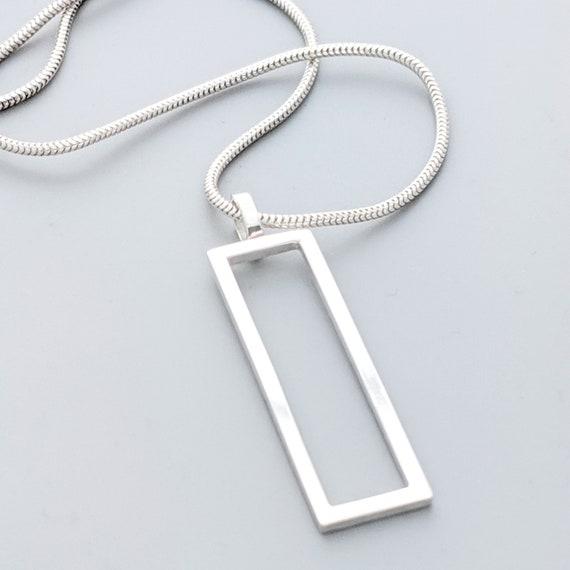 vertical frame necklace