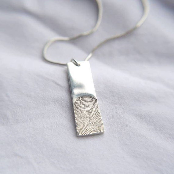 fingerprint tag necklace