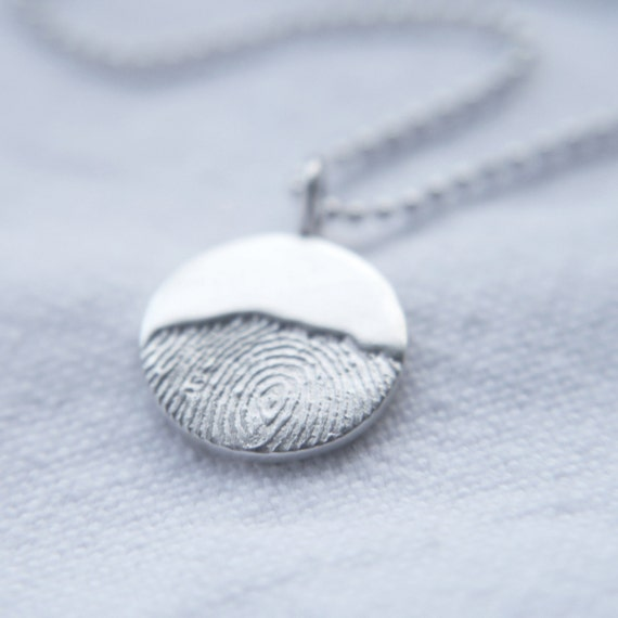 fingerprint moonrise necklace