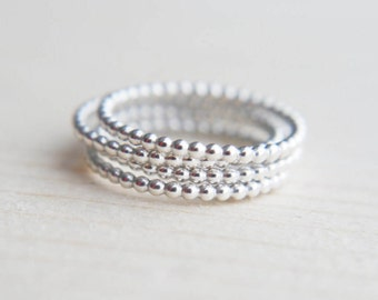 Stacking rings, Silver ring, Minimalist rings, Simple ring, Bubble ring, Modern jewellery, contemporary jewelry,  Minimalist jewellery