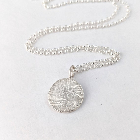 fingerprint charm necklace