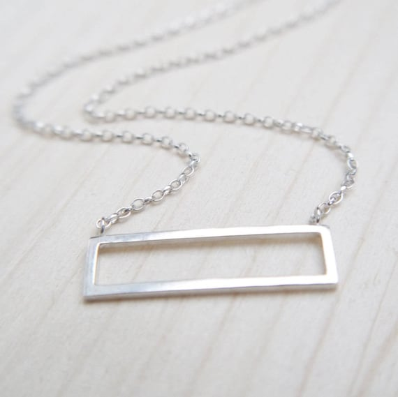 horizontal frame necklace