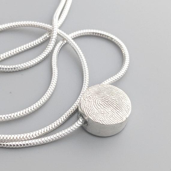 fingerprint slider charm necklace