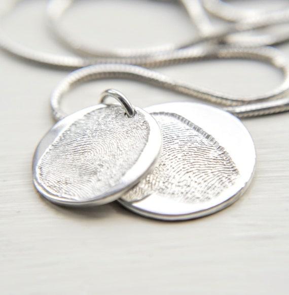 double descending fingerprint necklace