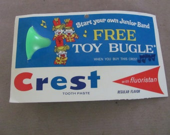 Crest Advertising Giveaway 1960/'s Crest Toothpaste Promotional Musical Toy Vintage Toy Calliope Plastic Calliope Musical Instrument