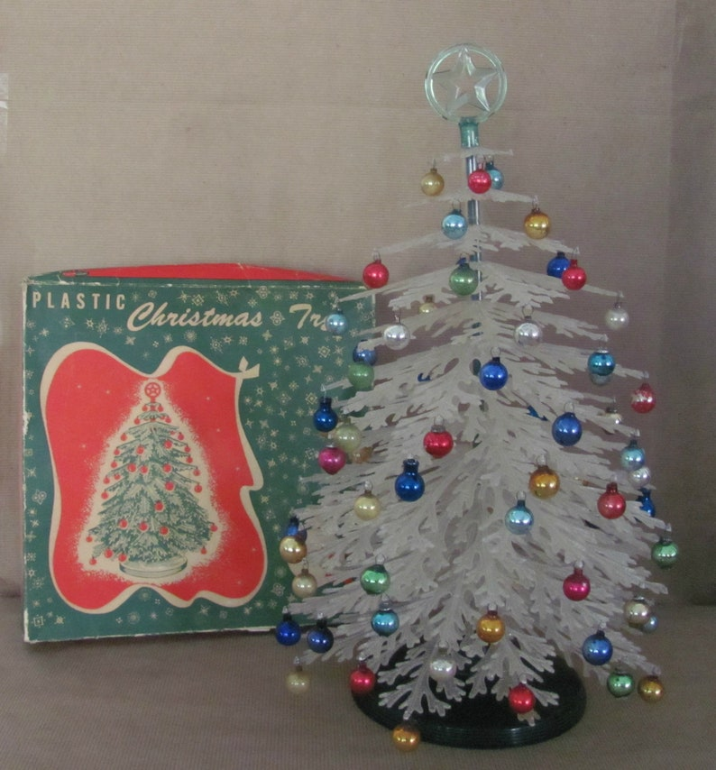 Vintage Plastic Christmas Tree 1950s Plasco Plastic Christmas Etsy
