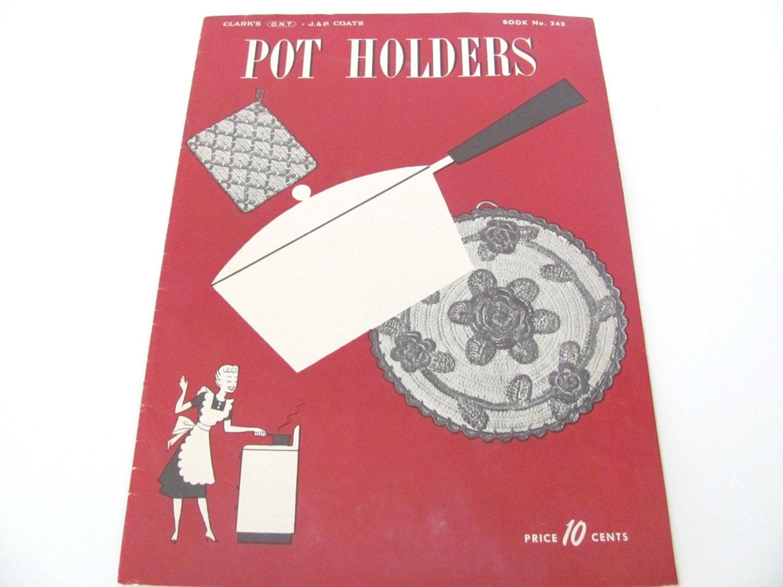 Vintage Topflappen 1940er-Topflappen häkeln Booklet Pattern