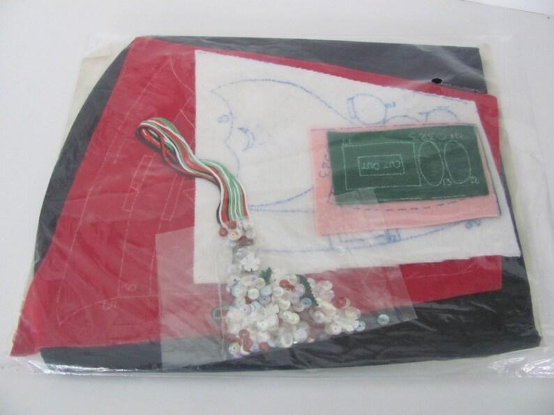 Vintage Christmas Kit 1950/'s Paragon Santa Toilet Lid Cover Kit Felt Christmas Santa Lid Cover Kit 1950/'s Christmas