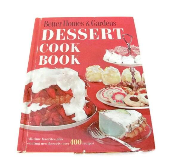 Vintage Cookbook, 1960's Better Homes and Gardens Dessert Cookbook,  Vintage, 1960's Recipes, Dessert Recipes, Old Cookbook