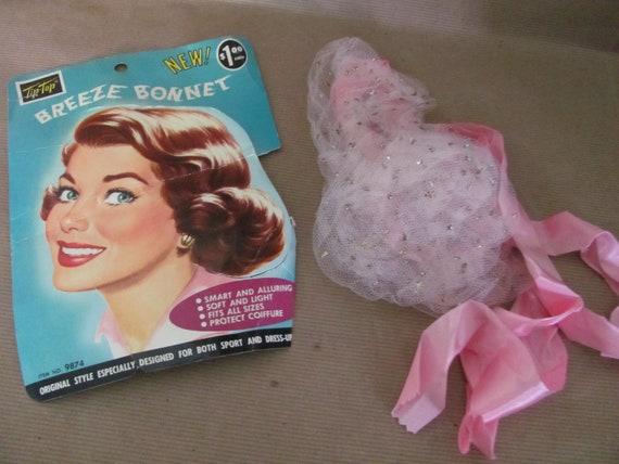 Vintage Hair Net, 1950's Tip Top Breeze Bonnet, Pi