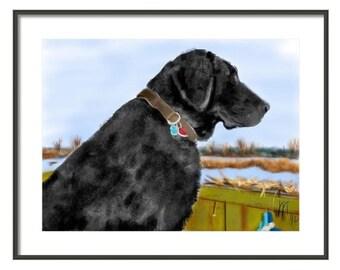 Custom Dog Portrait, custom portrait, pet portrait, dog lover, dog art, dog memorial, pet memorial, artwork, Labrador, black lab, retriever