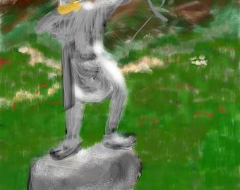 Iran, Arash, archer, wall art, art print, artwork, painting, Art & collectibles, Iran, Persian, Tehran, mountains, vacation, poppies, spring