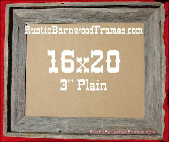 16x20 3 Plain Rustic Barn Wood Aged Weathered Reclaimed Etsy