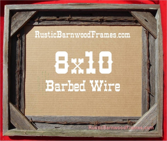 8x10 Barbed Wire Rustic Barn Wood Aged Weathered Reclaimed