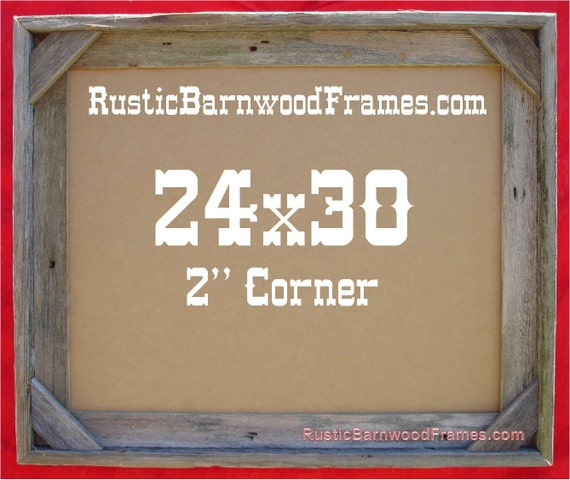 24x30 2 Corner Rustic Barn Wood Aged Weathered Reclaimed Etsy