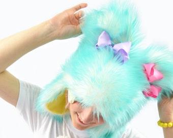 Kawaii Pastel Short Hat With Bows