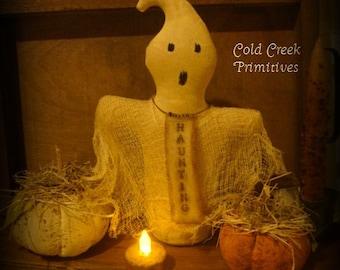 Primitive Ghost Halloween Stump Doll