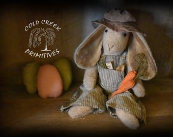 Primitive Farmer Bunny
