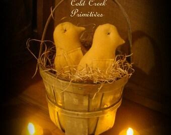 Primitive Baby Chick Ornies/tucks/bowl fillers Set of 3