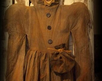 Primitive Witch's Dress Halloween Decor