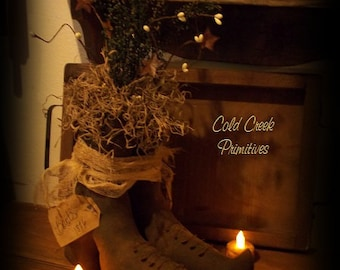 Primitive  Witches Boots Halloween Decor