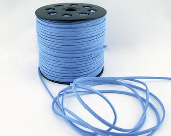 Light Blue Faux Suede Cord 20 Feet