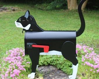 Black & White Cat Mailbox
