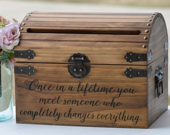 Customized Card Box, Once In A Lifetime You Meet Someone Who Completely Changes Everything, Boho Wedding Card Box With Slot, Bridal Shower