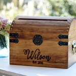 Wedding Card Box Wood Wedding Card Box With Slot 5th Anniversary Gift Wedding  Memory Chest, Custom Keepsake Trunk Personalized