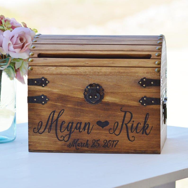 Shabby Chic Wedding Card Box Rustic Wedding Card Box With image 0