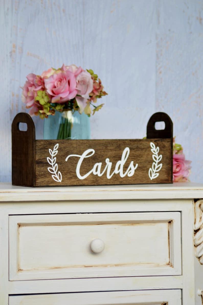 modern wedding card box rustic card holder woodland