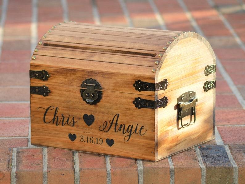 Card matrimonio rustico card personalizzata in legno scatola etsy