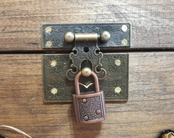 Add a lock and hasp to any card box